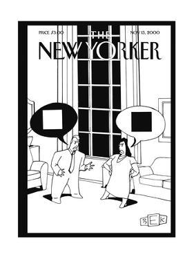 The New Yorker Cover - November 13, 2000 by Bruce Eric Kaplan