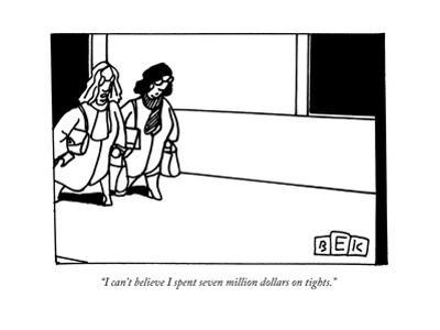 Two women walking down a street. - New Yorker Cartoon
