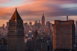 Golden Light New York Low Clouds by Bruce Getty