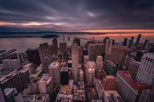 San Francisco Look Down by Bruce Getty