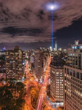 Tribute Lights Flatiron District by Bruce Getty