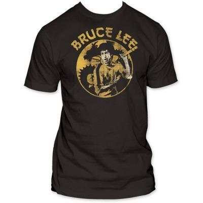 bruce lee yellow t shirt