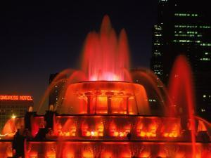 Buckingham Fountain at Night, Chicago, Illinois by Bruce Leighty