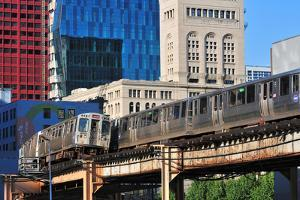 Passing CTA Trains by Bruce Leighty