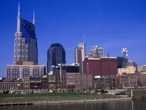 Riverfront Park and Downtown, Nashville by Bruce Leighty