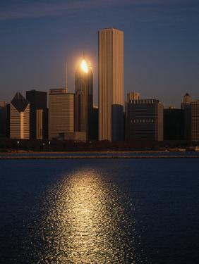 Skyline at Sunrise, Chicago by Bruce Leighty
