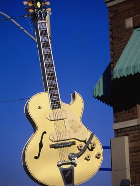 Sun Studio Guitar Sign, Memphis by Bruce Leighty