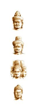 Buddha and the Three Supreme Hindu Gods, Vishnu, Shiva and Brahma by Bruce Morser