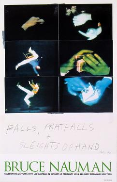 Falls, Pratfalls + Sleights of Hand by Bruce Nauman