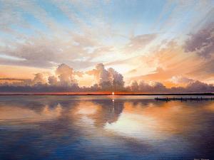 Sunset over Lake by Bruce Nawrocke