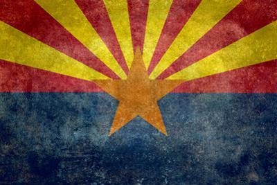 Arizona State Flag - With Distressed Treatment by Bruce stanfield