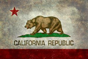 California State Flag With Distressed Treatment by Bruce stanfield