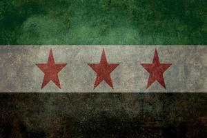 Syrian Interim Government And Syrian National Coalition'S National Flag by Bruce stanfield