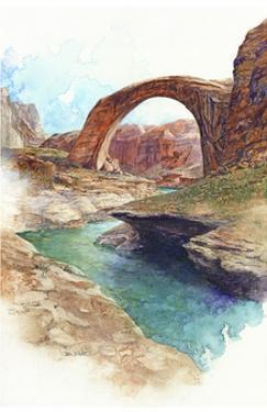 Rainbow Bridge - Lake Powell, Ut. by Bruce White