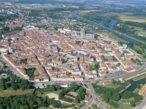 Aerial View of Fortifications of Marshal Vauban, Town of Toul, Meurthe-Et-Moselle, Lorraine, France by Bruno Barbier