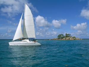 Catamaran, Island of Praslin, Seychelles, Indian Ocean, Africa by Bruno Barbier