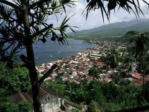 Coast and Town of Saint Pierre from the Mouillage Area, Northwest Coast, Martinique, West Indies by Bruno Barbier