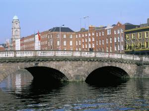 Father Mathey Bridge, Liffey River, Dublin, County Dublin, Eire (Ireland) by Bruno Barbier