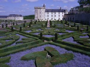 Formal Gardens, Chateau of Villandry, Indre Et Loire, Loire Valley, France by Bruno Barbier