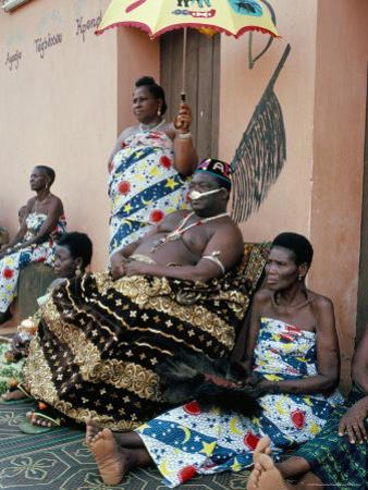 His Majesty Agboli Agbo Dedjani, Last King of the Dan-Home Dynasty, Abomey, Benin (Dahomey), Africa by Bruno Barbier