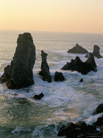 Les Aiguilles De Port Coton, Belle Ile En Mer, Breton Islands, Morbihan, Brittany, France by Bruno Barbier