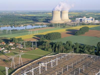 Nuclear Power Station of Saint Laurent-Des-Eaux, Pays De Loire, Loire Valley, France by Bruno Barbier