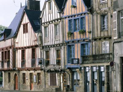 Timbered Houses, Town of Vannes, Gulf of Morbihan, Brittany, France by Bruno Barbier