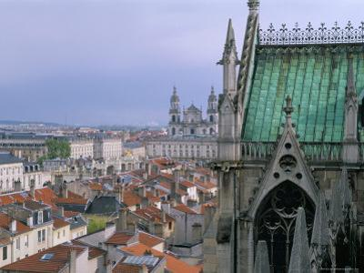 View from Terrace of St. Epvre Basilica, of Place Stanislas and Old Town, Nancy, Lorraine by Bruno Barbier