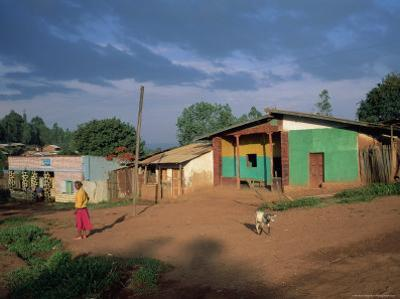 Village Scene, Goulisoo, Oromo Country, Welega State, Ethiopia, Africa by Bruno Barbier