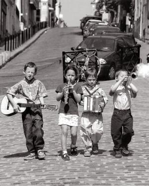 Boys' Band, Montmartre, Paris, c.1999 by Bruno De Hogues