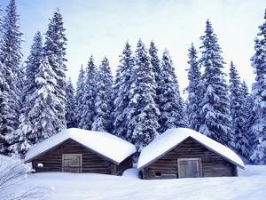 Barn in Lapland in Winter by Bruno Ehrs