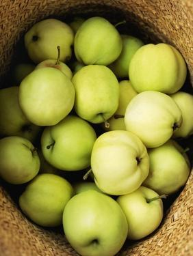 Green Apples in a Straw Hat by Bruno Ehrs