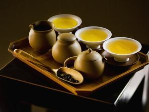 Oolong Tea Served with Japanese Tea Set by Bruno Ehrs