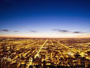 View of Chicago from Sears Tower by Bruno Ehrs