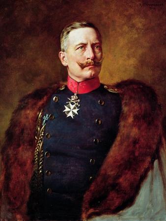 Portrait of Kaiser Wilhelm II (1859-1941) by Bruno Heinrich Strassberger
