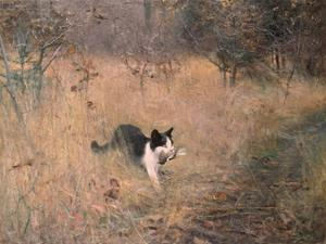 Cat Hunting, 1883 by Bruno Liljefors