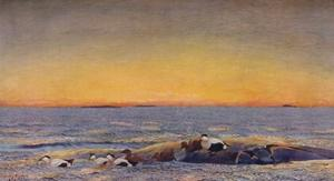 'Sunrise', 1896 by Bruno Liljefors