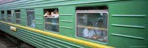 A Carriage on the Trans-Siberian Express Train, Siberia, Russia, Europe by Bruno Morandi