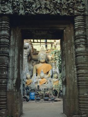 Buddha, Wat Phu, Champasak, Laos, Asia by Bruno Morandi