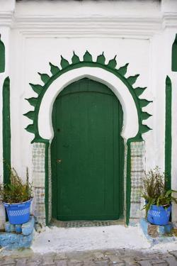 Door in the Medina (Old City), Tangier (Tanger), Morocco, North Africa, Africa by Bruno Morandi