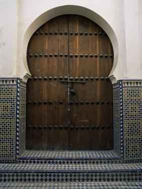 Door in the Quartier Des Andalous, Medina, Fes El Bali, Fez, Morocco, North Africa, Africa by Bruno Morandi