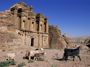 El Deir (Ed-Deir) (The Monastery), Petra, Unesco World Heritage Site, Jordan, Middle East by Bruno Morandi