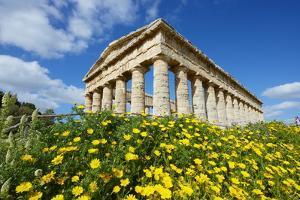 Greek Temple, Segesta, Trapani District, Sicily, Italy, Europe by Bruno Morandi