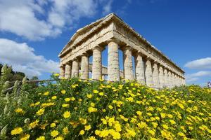 Greek Temple, Segesta, Trapani District, Sicily, Italy, Europe by Bruno Morandi