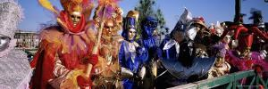 Group of People in Masks and Costume, Carnival, Venice, Veneto, Italy, Europe by Bruno Morandi