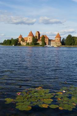 Island Castle of Trakai Near Vilnius, Lithuania, Europe by Bruno Morandi