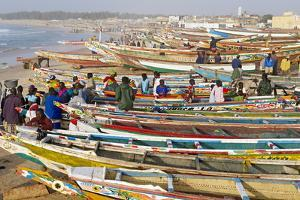Kayar Fishing Harbour, the Biggest Fishing Harbour in Senegal, Senegal, West Africa, Africa by Bruno Morandi