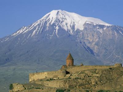 Khorvirap (Khor Virap) Monastery and Mount Ararat, Armenia, Central Asia, Asia