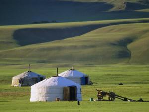 Nomads' Camp, Terkhin Valley, Arkhangai, Mongolia by Bruno Morandi
