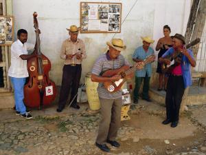 Old Street Musicians, Trinidad, Cuba, Caribbean, Central America by Bruno Morandi